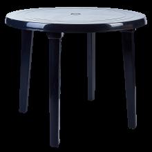 Пластмасова кръгла маса графит