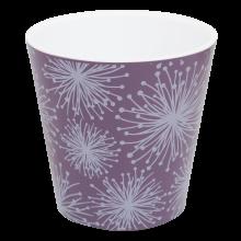 Саксия ДЕКО с двойно дъно и декор 16,0х15,5 см Etno flour лилава