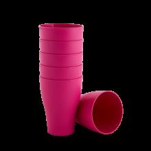 Комплект чашки 6бр.x 0,075 тъмно розов